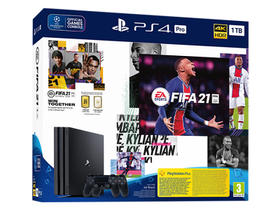 Sony PlayStation PS4 Pro 1TB + FIFA 21 + DS4