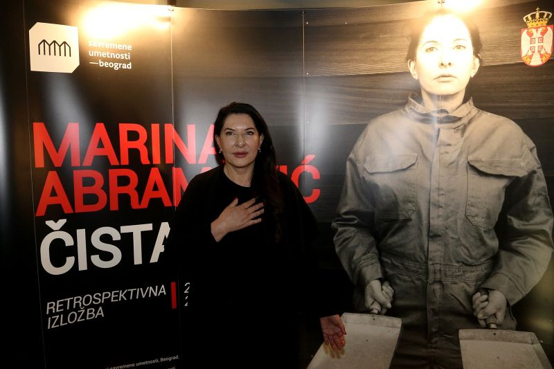 Ko namesto platna spregovori telo: Marina Abramović v Beogradu