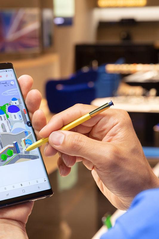 Risanje, pisanje in zabava s Samsungovim Note 9